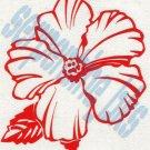 Hawaiian Flower S Car Vinyl Window Bumper Decal Sticker