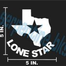 TEXAS LONESTAR Window Bumper Vinyl Decal Sticker