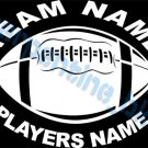 Custom Sports Football Vinyl Decal Team & Player