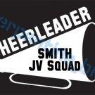 L Custom Sports Cheerleader Vinyl Decal Team & Player