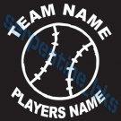 L Custom Sports Baseball Vinyl Decal Team & Player