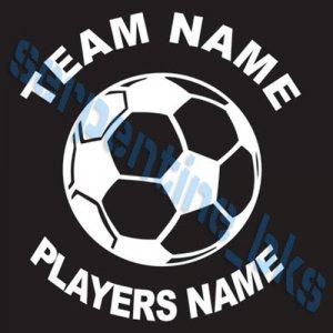 L Sports Custom Soccer Vinyl Decal Team & Player