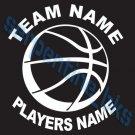 Custom Sports Basketball Vinyl Decal Team & Player