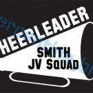 Custom Sports Cheerleader Vinyl Decal Team & Player