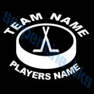 L Custom Sports Hockey Vinyl Decal Team & Player