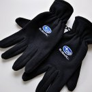 Suburu black fleece men's gloves