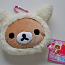 Rilakkuma zippered rabbit plush coin pouch purse San-X relax bear