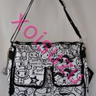 NEW Tokidoki Lesportsac Campeggio Tutti shoulder messenger bag purse black white