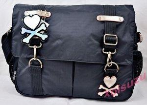 NEW Tokidoki Creativa Mezzanotte black messenger shoulder bag purse school