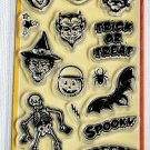 inkadinkado spooky & creepy halloween 18 clear stamps 99413
