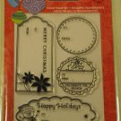 Hero Arts Happy Holidays Tag clear stamp set christmas winter gift