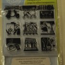 inkadinkado Paris Inchie Bundle 10 clear stamps 60-30535 Lisa Ballard
