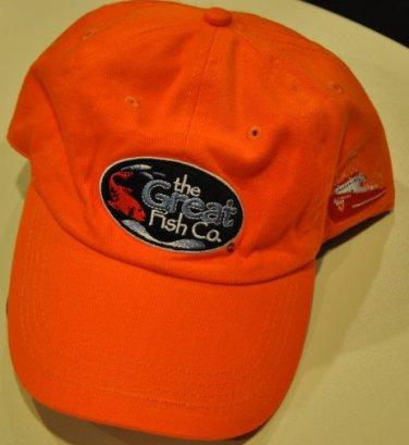 The Great Fish Company orange baseball cap hat