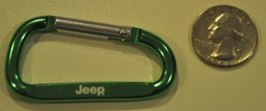 Jeep Carabiner green keychain cherokee wrangler key chain accessory