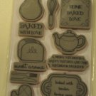 tpc studio SO DELISH Rubber Stamps the paper company 15 pcs