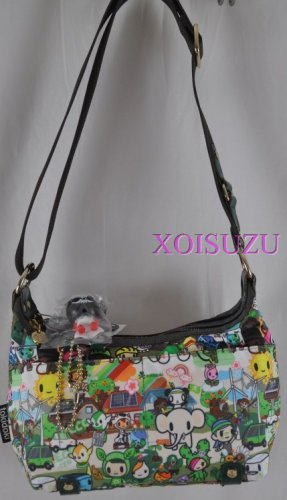 NEW Tokidoki Sorriso hand bag purse Eco Mondo print green recycle