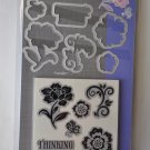 Sizzix Framelits Floral Set 657776 Dies and Stamps Flowers Thinking of you
