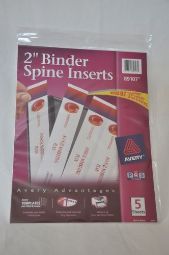 Avery 89107 Binder Spine Inserts - BULK PURCHASE 10 PACKS