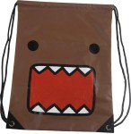Domo Kun Japanese Character Drawstring Bag Brown by Concept One back sack