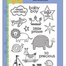 Hero Arts CL264 Precious Baby Boy stamp set - elephant lion plane porcupine star train