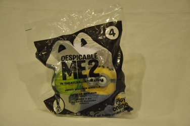 Despicable Me 2 #4 Jerry Whizzer Whistle minion 2013 McDonalds Happy Meal Toy figure