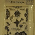 Hampton Art LE5549M Carpe Diem 14 clear stamps floral bird flowers