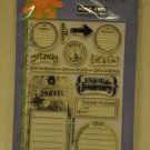 Hero Arts CL146 Travel Journal - 12 clear stamps - enjoy the journey let's go