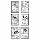 inkadinkado 99520 Boxed Wishes - 6 clear stamps - birthday thank you friend sentiments