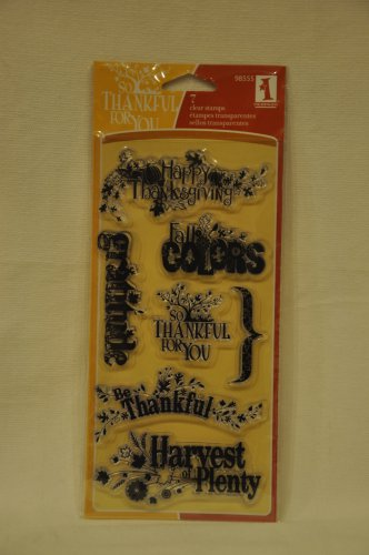 inkadinkado 98555 Harvest Expressions - 7 clear stamps - thanksgiving thankful fall gratitude