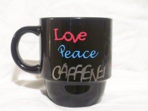 Love Peace Caffeine Coffee Mug