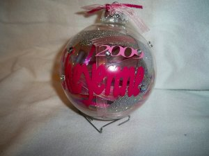Personalized Girly Ornament