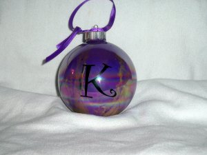 Painted Swirl Initial Ornament
