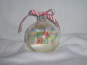 Noel Block Ornament