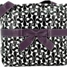 Fleur de Lis with Bow Diaper Bag