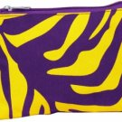 Purple and Gold Tiger Stripe Cosmetic Bag