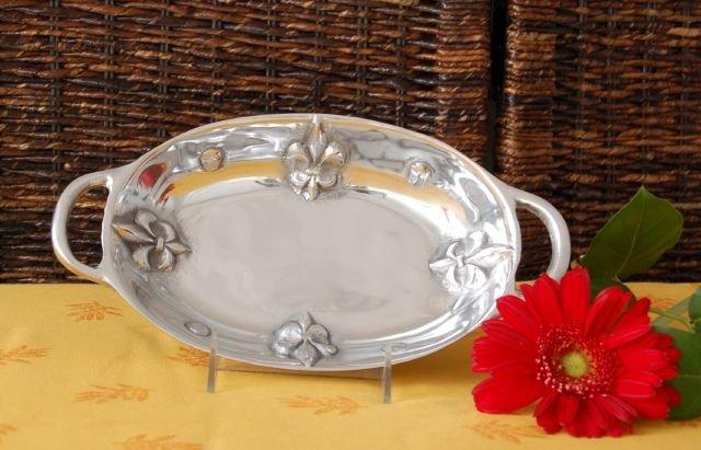 Fleur De Lis Small Oval Vegetable Dish