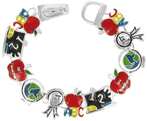 School Themed Link Magnetic Bracelet - Colors