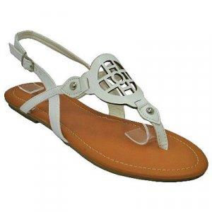 Sunny Feet White Sling Back Sandal - Size 6