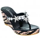 La Sonia Thong Wedge - Size 7