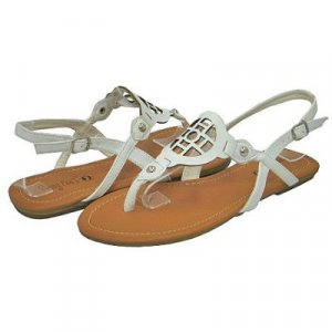 Sunny Feet White Sling Back Sandal - Size 7