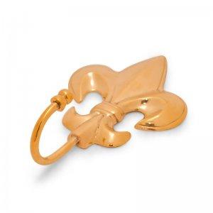 Fleur de Lis Brass Hook