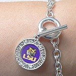LSU OFFICIALLY LICENSED TOGGLE BRACELET