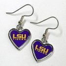 LSU OFFICIALLY LICENSED HEART EARRINGS