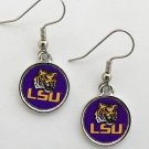 LSU OFFICIALLY LICENSED ROUND CIRCLE EARRINGS