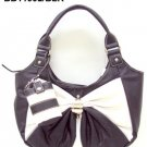 Black and White Bow Handbag
