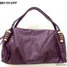 "Purple & Gold ""Leather"" Handbag"