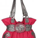 Fuschia Cross Handbag