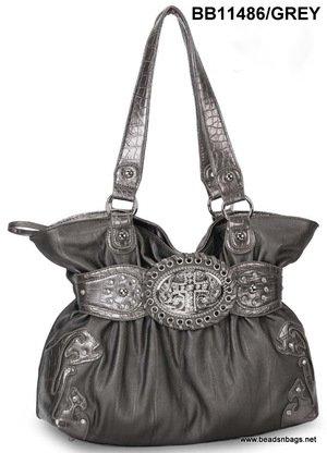Grey Cross Handbag