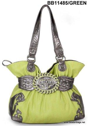 Lime Cross Handbag