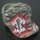 Camo Fleur de Lis Hat